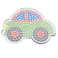 1pcs sjabloon duidelijke pennenbord kleurrijke 11cm auto voor 5mm hama kralen Perler kralen zekering kralen