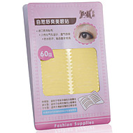 Fenlin ® No Glisten Yellow Double Eyelids Level Sticker 60 Pieces With Holes To Breath