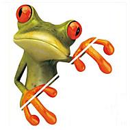 persoonallisuus hauska auto, suosittu sarjakuva sammakko 3d kolmiulotteinen koriste tarroja, tarrat, vedenpitävä