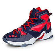 Heren Sneakers Comfortabel PU Lente Herfst Causaal Basketbal Comfortabel Veters Platte hak Zilver Geel Rood Groen Blauw Plat