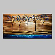 Pintados à mão Abstrato Paisagem Paisagens Abstratas Floral/Botânico Horizontal,Moderno 1 Painel Tela Pintura a Óleo For Decoração para