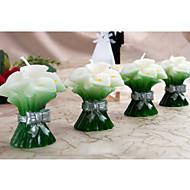 꽃 테마 / 클래식 테마 촛불 부탁-2Piece 조각 / 세트 캔들 비 개인화 그린