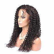 """6A 20""""-24"""" Full Lace Wigs Brazilian Kinky Curly Hair Natural Color For Black Woman"""