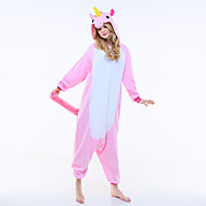 Kigurumi Pajamas New Cosplay® / Flying Horse Leotard/Onesie Halloween Animal Sleepwear Pink Patchwork Polar Fleece Kigurumi Unisex