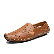 Men's Sandals Summer Comfort / Flats Leatherette Casual Flat Heel Others Blue / Brown / White Walking