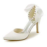 Women's Shoes Satin Spring / Summer / Fall Pointed Toe Heels Wedding / Party & Evening / Dress