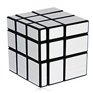 Toys Magic Cube Rubik Cube Shengshou® 3*3*3 Mirror Magic Toy Smooth Speed Cube Magic Cube puzzle Black / Silver ABS