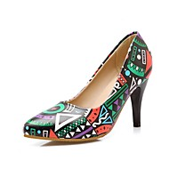 Women's Heels Summer / Fall Heels / Pointed Toe PU Office & Career / Casual Cone Heel Others Blue / Yellow /