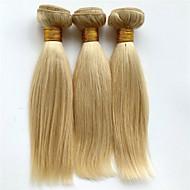 Człowieka splotów włosów Włosy brazylijskie Düz 6 miesięcy 3 elementy sploty włosów