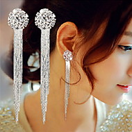 Drop Earrings Earrings Tassel Fashion Statement Jewelry Luxury Elegant Long Galaxy Copper Imitation Diamond Circle Geometric Silver