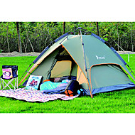 2 persons Tent Double Automatic Tent One Room Camping Tent 2000-3000 mm Fiberglass PU OxfordMoistureproof/Moisture Permeability