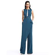 TS Couture® Formal Evening Dress Sheath / Column Bateau Floor-length Chiffon with Beading / Sash / Ribbon