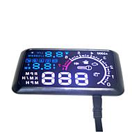 auto hud head up 5,5 LCD-scherm OBD-II auto styling carkit brandstof te hoge snelheid km / h