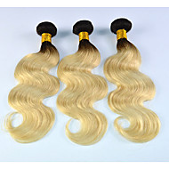 Dark-Root-Brazilian-Blonde-Hair-Weave-Bundles-Pansy-Hair-Style-Body-Wave-Blonde-Human Hair 3pcs/lot
