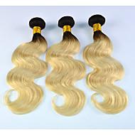 Ombre Włosy brazylijskie Falowana 3 miesiące 3 elementy sploty włosów