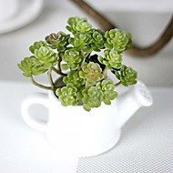 1 Branch Simulation Succulents Artificial Flowers Ornaments Mini Green Artificial Succulents Plants Garden Decoration