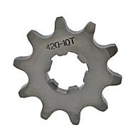 pinhão 420-10t motor dianteiro dente por mini motor quad 17 milímetros bicicleta da sujeira