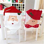 cadeira de natal 1 par cobre Papai Noel ano novo venda decoração ornamentos decorações de Natal em casa chapéus alegre