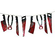 1 zestaw Spooky Halloween Party nawiedzony dom wisi wieniec proporzec transparent dekoracji