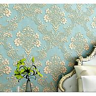 Blomstret Art Deco 3D Tapet til Hjemmet Klassisk Tapetsering , U-vevet stoff Materiale selvklebende nødvendig bakgrunns , Tapet