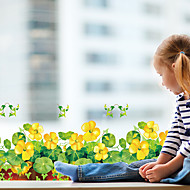 Çiçek / Ağaçlar/Yapraklar / Art Deco Ev için duvar kağıdı Çağdaş Duvar Kaplamaları , PVC/Vinil Malzeme Yapıştırıcı gerekli Duvar , Oda