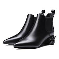 Women's Boots Spring / Fall / Winter Combat Boots Leather Outdoor Chunky Heel Others Black Others