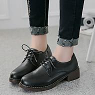 Damen-Sneaker-Lässig-Leder-Blockabsatz Block Ferse-Komfort-