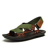 Men's Sandals Summer Slingback Leather Casual Flat Heel Others Black Green Others
