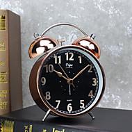 שעון מעורר עם מנורת לילה צבע שחור movment matel במקרה שותק