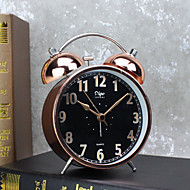 Alarm Clock with Matel Case Silent Movment Black Color Night Light