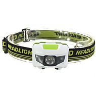 自転車用ライト LED - サイクリング 防水 / スマールサイズ / ナイトビジョン / コンパクトデザイン 単四電池 1200 ルーメン バッテリー レッド / クールホワイト サイクリング-照明