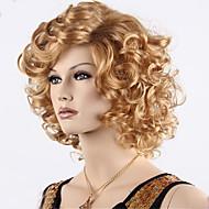 billige lange krøllete syntetisk blonde brune parykker Ombre farge syntetisk parykk varme vennlige