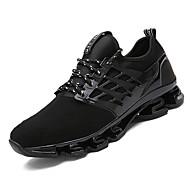 Sneakers-PU-Komfort-Unisex-Sort Grøn Rød-Fritid-Flad hæl