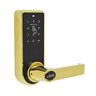 slimme deurslot, sleutelloze code passward deur hefboom sluis in goud of borstelnikkel afwerking