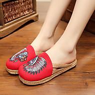Sandaalit-Tasapohja-Naiset-Kumi-Punainen Sininen-Rento-Comfort