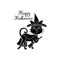 Wall Stickers Wall Decals Style Halloween Happy Cat PVC Wall Stickers
