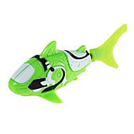 robo vis haai stijl elektronische vissen speelgoed - groen + wit (2 x LR44)