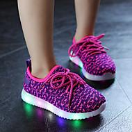 Sneakers-Tyl-Komfort Light Up Sko-Piger-Sort Blå Rød-Fritid Sport-Flad hæl