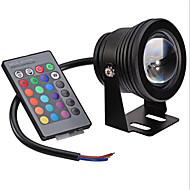 Festoon Lâmpada Subaquática Encaixe Embutido 1 LED Integrado 400 lm RGB Regulável Controle Remoto Decorativa AC 12 V 1 pç
