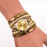 Women Multilayer Serpentine Faux Leather Wrap quartz watch Wrist Watch relogio feminino
