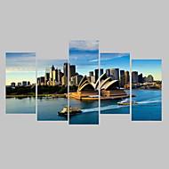 Photographie Toile Cinq Panneaux Prêt à accrocher , Format Horizontal