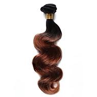100g / pc corps vague cheveux humains 10-18inch ombre noir cheveux bruns auburn tissent