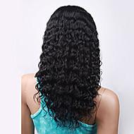 nezpracované brazilský panenský lidský vlas černá barva kudrnatý krajky vpředu paruka s baby vlasy
