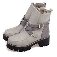 Women's Boots Spring / Fall / Winter Snow Boots / Fashion Boots Leatherette Outdoor/ Casual Chunky Heel Buckle / Others