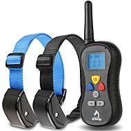 Hundar bark Collar / Träningshalsband till hundar Anti Bark / Vattentät / Fjärrkontroll / Vibration / LCD / 300M Solid Svart Plast