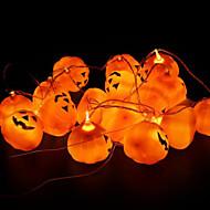 16pcs / set Halloween-Kürbis Requisiten ein String Kürbislicht verrückt Parteidekoration Kürbislampe Halloween-Party-Dekoration