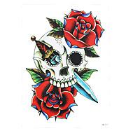 1 Tetovací nálepky Květinová řada Non Toxic / Vzor / Spodní část zad / WaterproofDámské / Pánské / Dospělý Flash Tattoo dočasné tetování