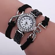Women's Fashion Watch New Design Charm Multilayer Cuff Bracelet Wristwatch Leather Band Designed LOVE 8 kids watches
