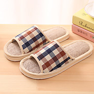 Unisex Slippers & Flip-Flops Spring / Summer / Fall Comfort Linen Casual Flat Heel Others Blue / Pink / Red