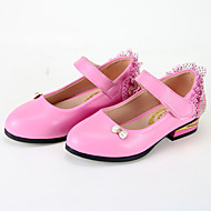 Girl's Flats Spring / Fall Ballerina / Round Toe Leatherette Casual Flat Heel Bowknot Black / Pink / Fuchsia Others